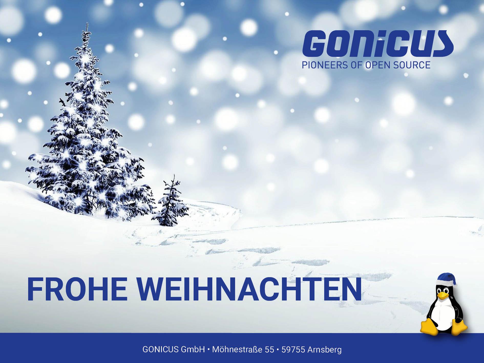 Frohe Weihnachten wünscht GONICUS